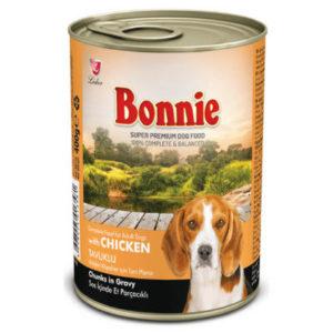 Bonnie Parça Etli Tavuklu Köpek Konservesi 400 gr